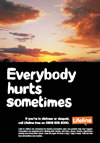 Everybody hurts sometimes poster